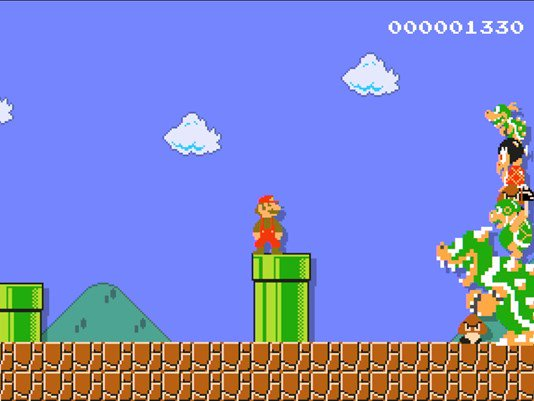 So cool! Gamer proposes to girlfriend using Super Mario Maker   #SuperMarioMaker #SheSaidYes