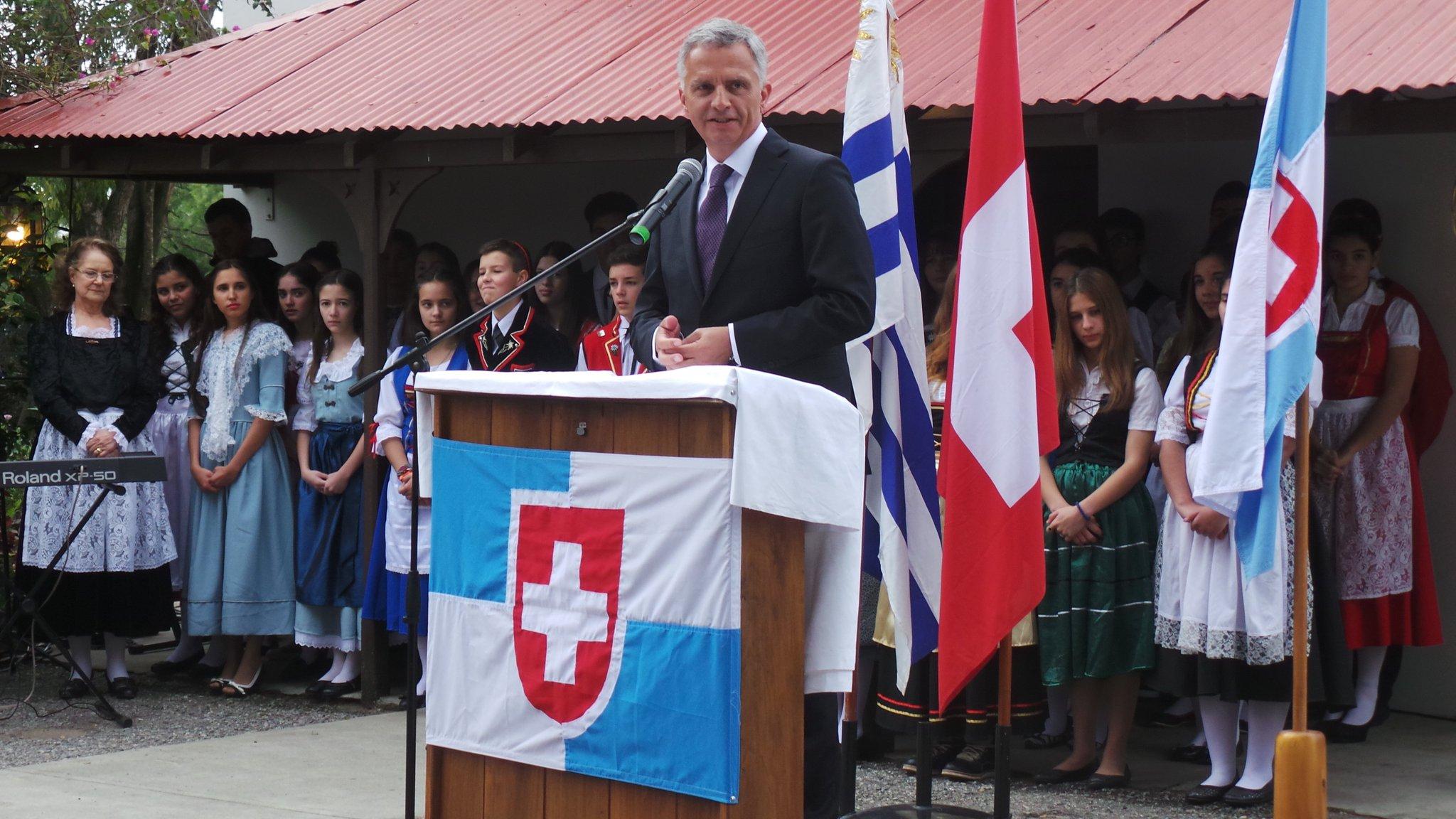 Член швейцарского федерального совета Дидье Буркхальтер