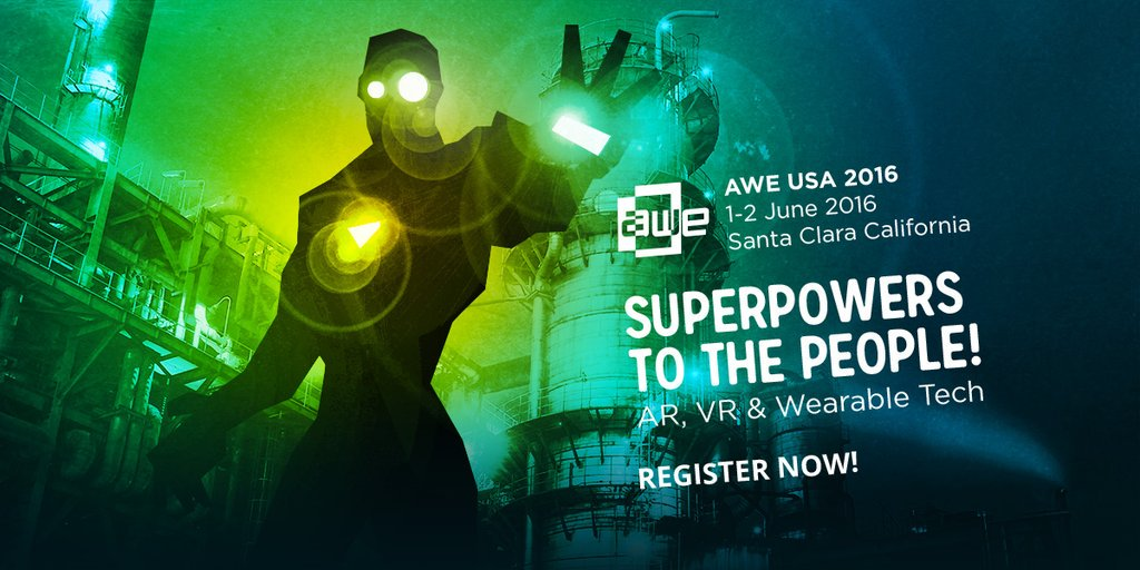 Enter AWE16NVIDIA for your #AWE2016 Promotional Code and get 45% off!  #VR #AR