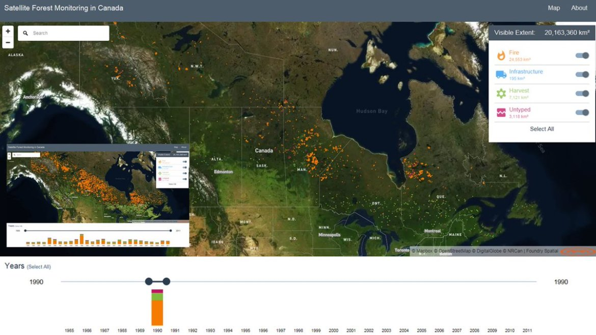 [1/2]Website to explore ~3 decades of #forest dynamics in #Canada. #Landsat #LTSBAP #bigdata