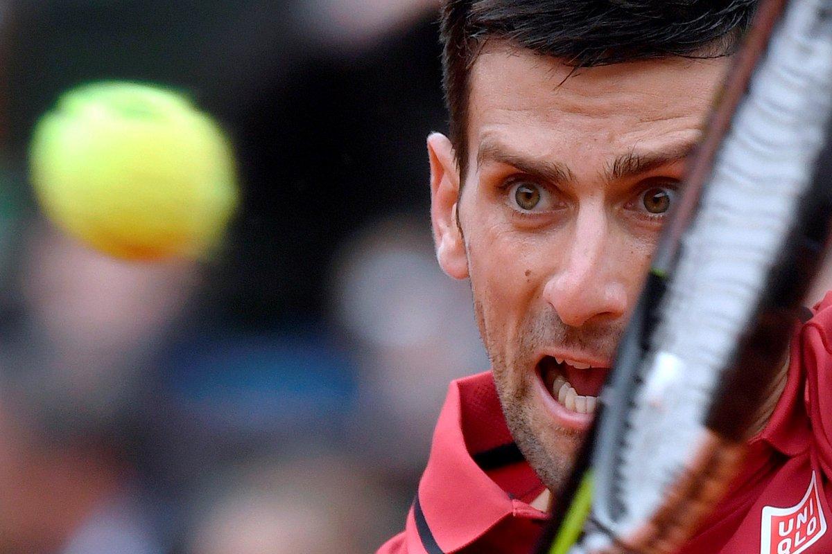 #FrenchOpen: Novak Djokovic is on
