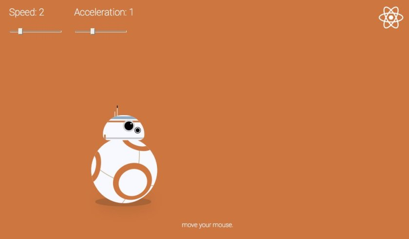 #ReactJS animated BB-8:
