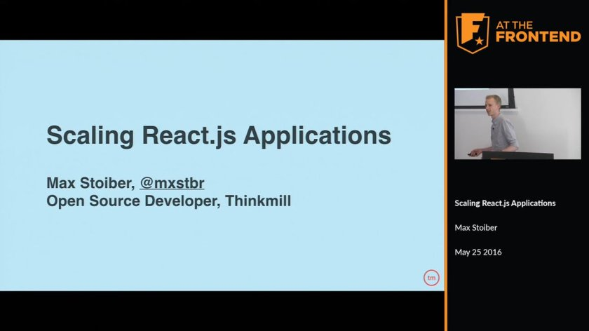 Don't miss this useful talk by @mxstbr: Scaling #ReactJS apps
