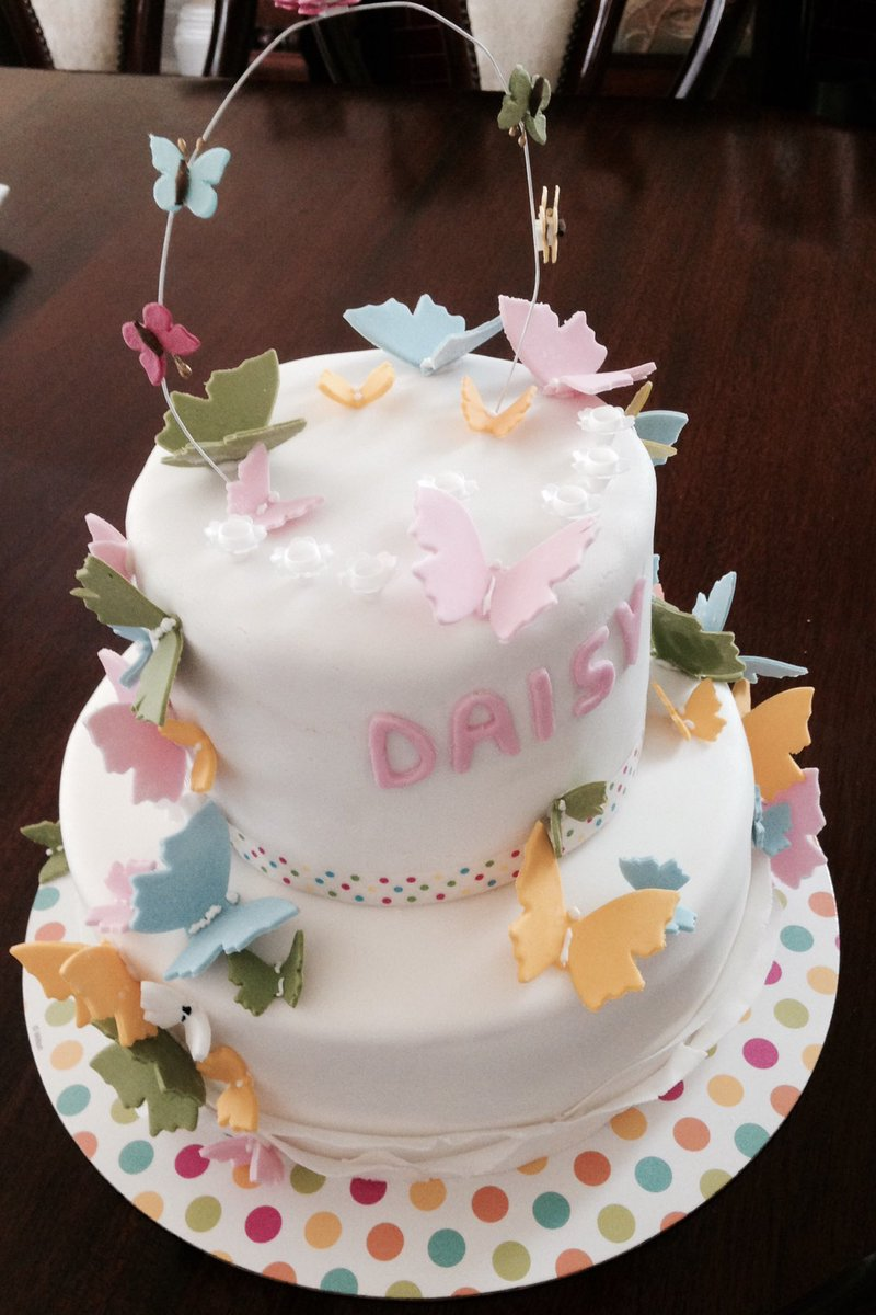 Nancy Birtwhistle On Twitter Granddaughter Asked For A Butterfly Cake Happy Birthday Daisy X Birthdaycake Butterfly Celebrationcake