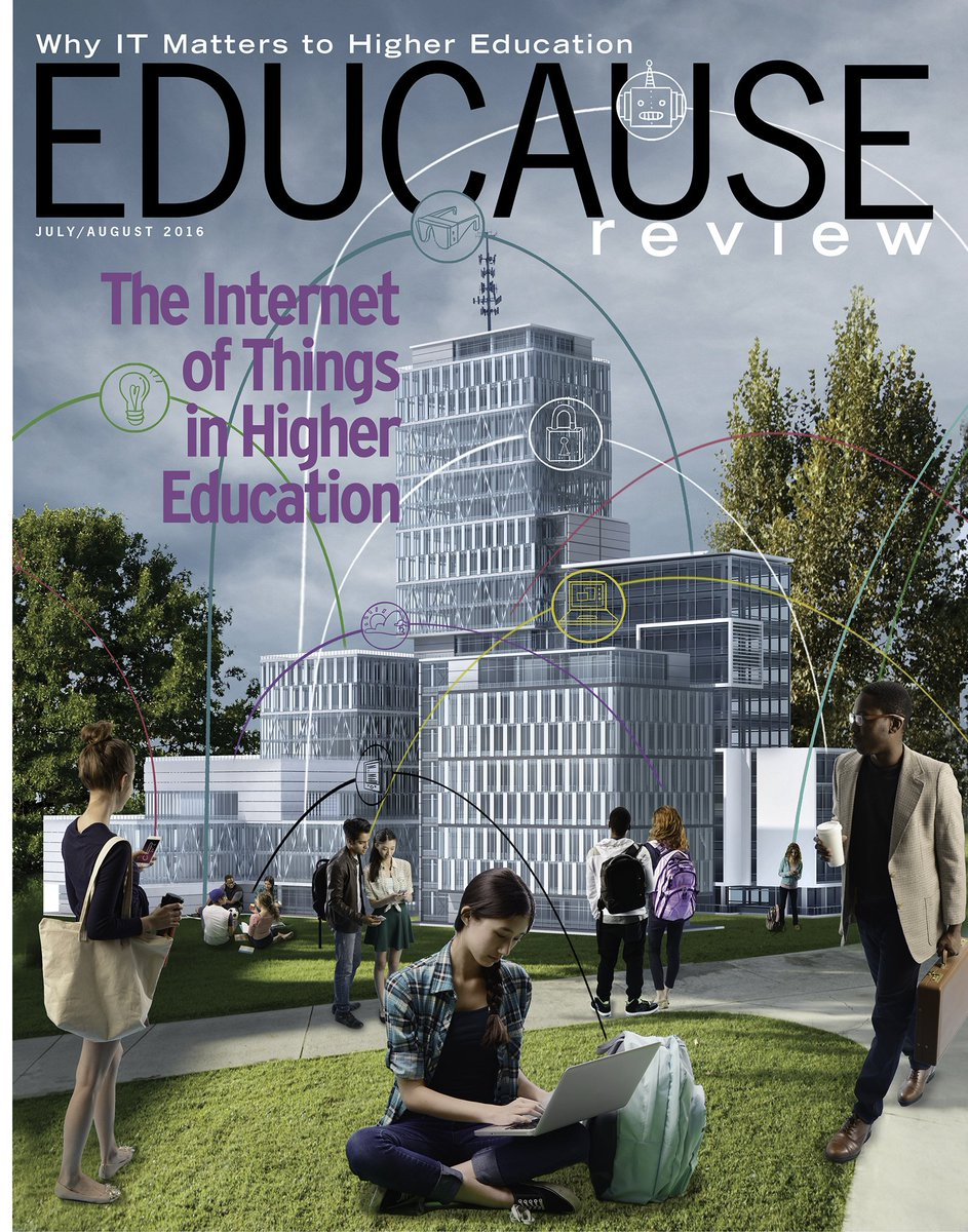 July/August 2016 issue, online & in print this week: The Internet of Things in #highered -