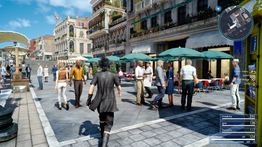 Final Fantasy XV Altissia & Type-F Regalia Footage 1