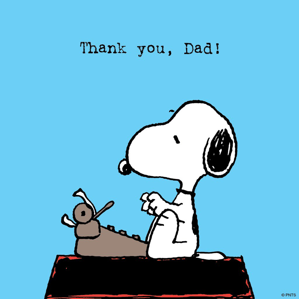 Peanuts On Twitter Thank You Dad