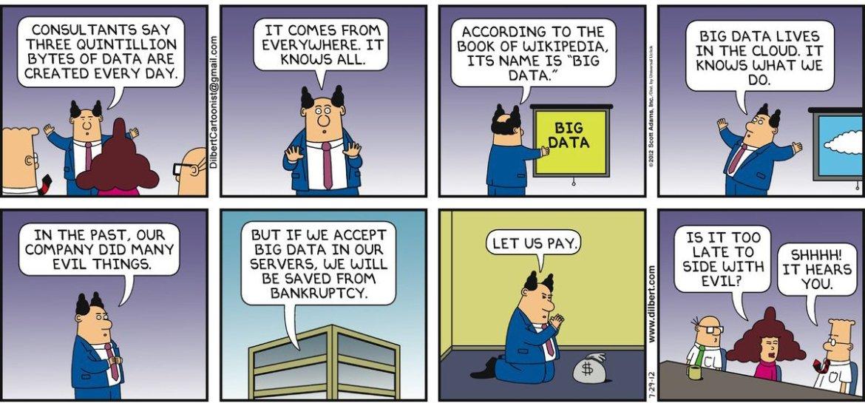Dilbert's 20 funniest cartoons on Big Data | #BigData #DataMining #RT
