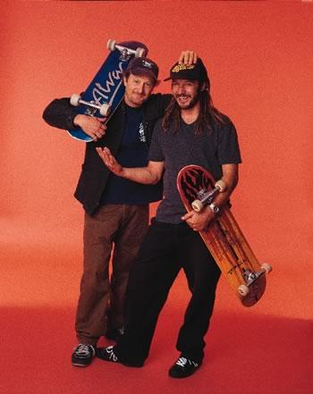 Gallery. ROLLIN' WITH Z-BOYS (OCT. '02) Check out Stacy Peralta and Tony Alva. #goskateday