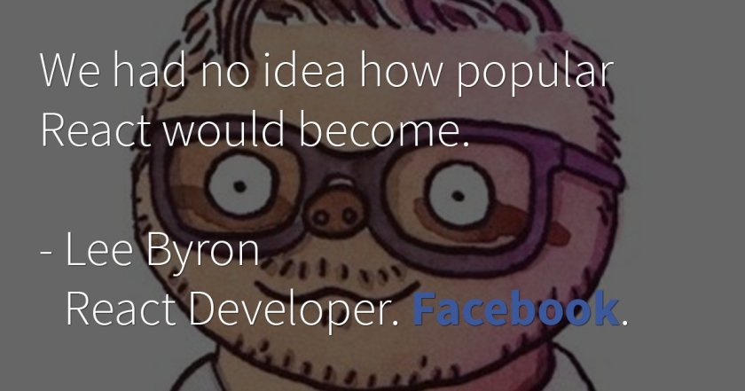 Join us for a talk with Facebook's @leeb about @reactjs development and infrastructure: