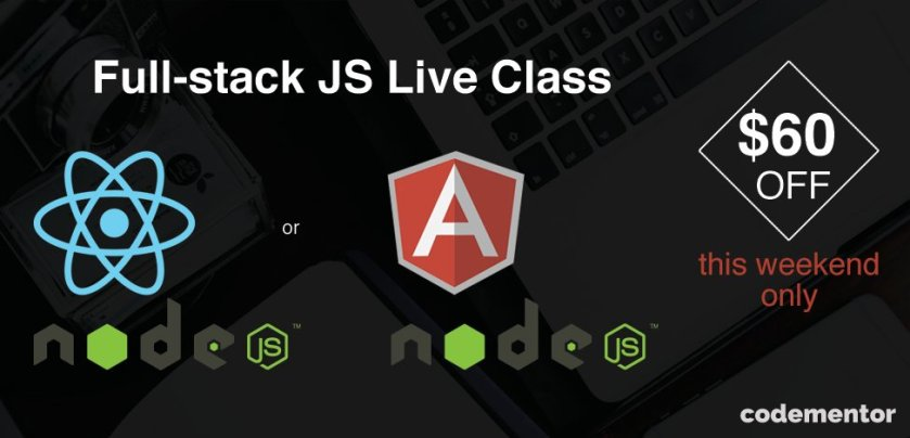 Want to be a full-stack #reactjs developer? We're having a special sale this weekend!  #js