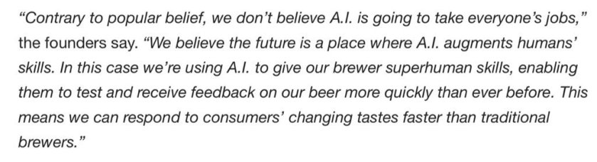 Artificial Intelligence used to brew beer, using existing recipes, invention, and feedback