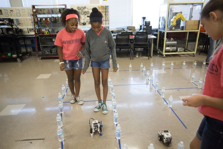 A Hillsborough all-girls summer camp — with robots: