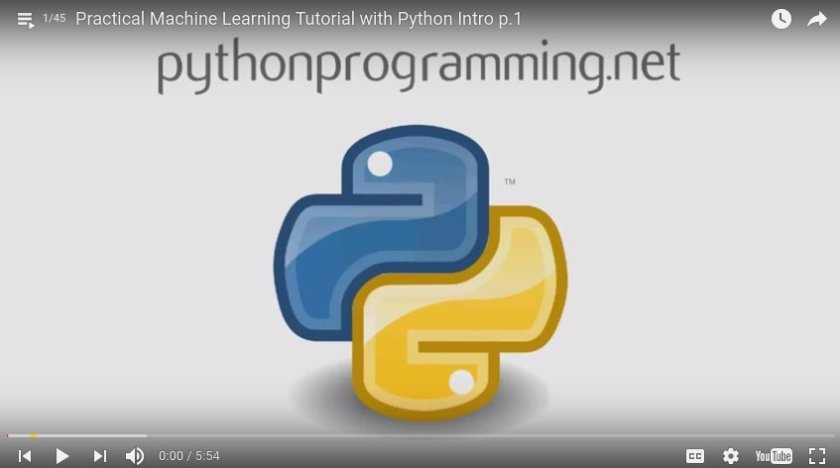 Practical #MachineLearning Intro Tutorial with #Python by @sentdex