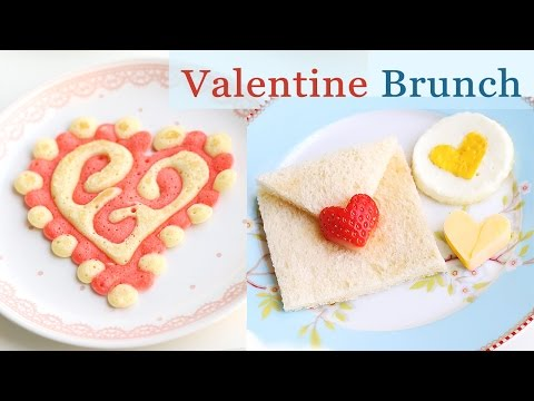 Valentine Pancakes & Breakfast Ideas -