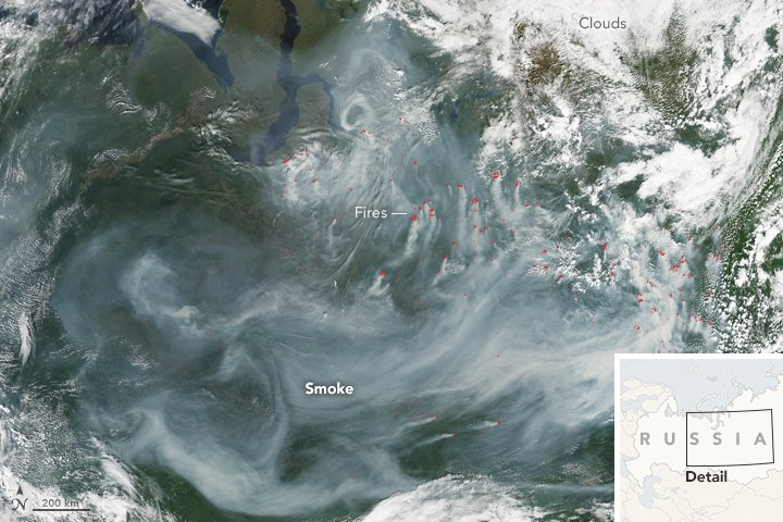 Fires in Northwestern Siberia  #NASA