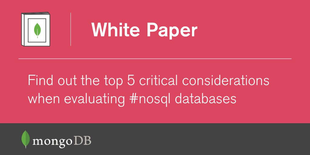 Wondering how to successfully evaluate a NoSQL database? Start here: