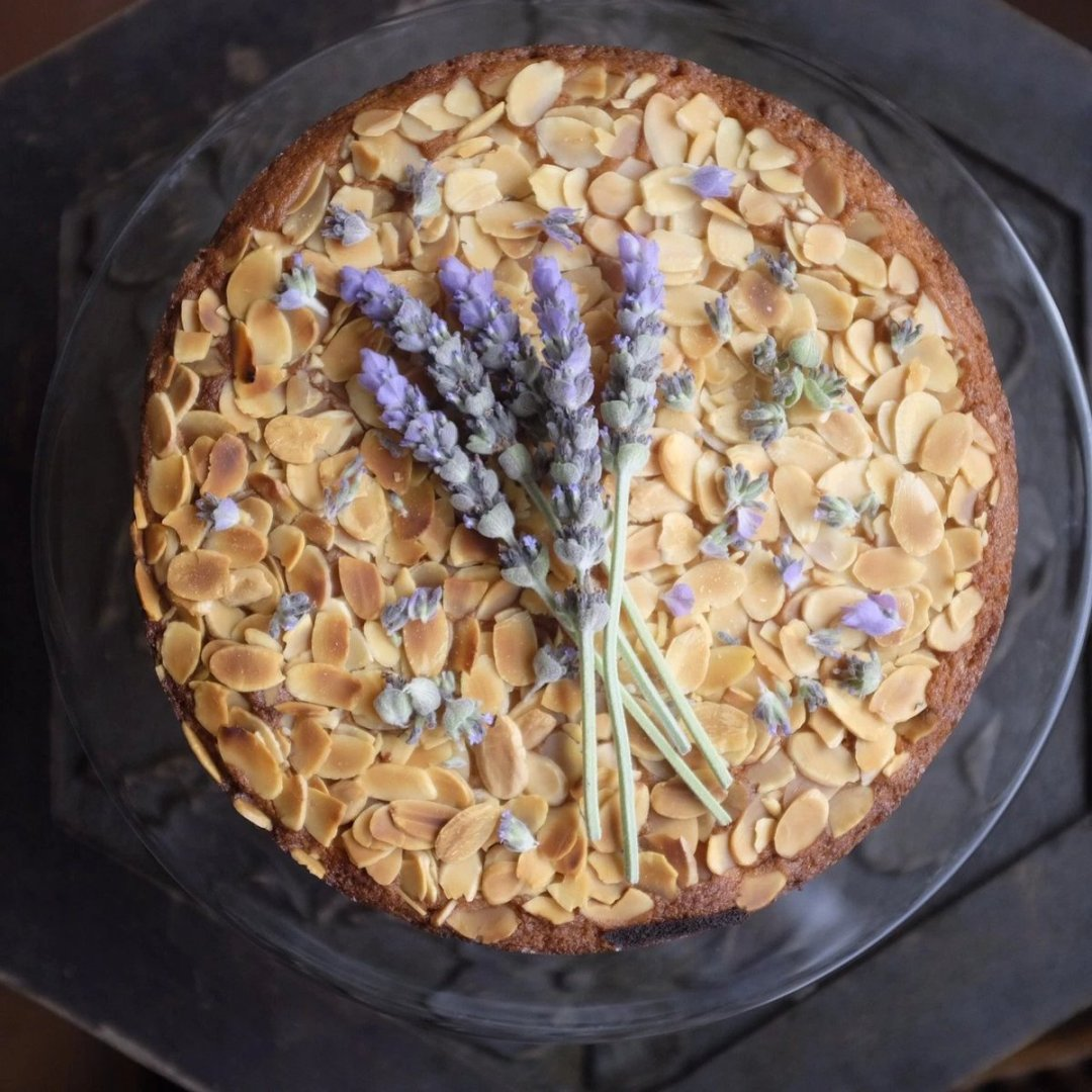 Light and Creamy Middle Eastern Lemon & Almond Basbousa Cake