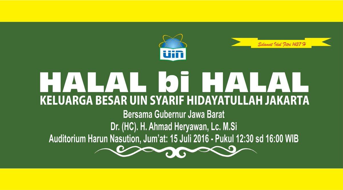Uin Jakarta Official On Twitter Agendauin Acara Halal Bi Halal