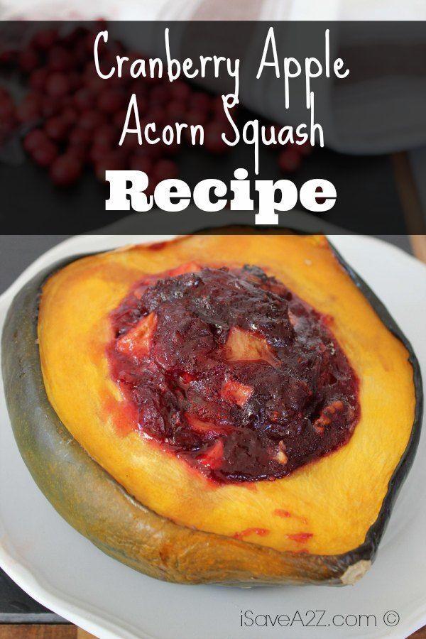 Cranberry Apple Acorn Squash