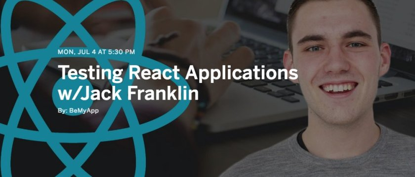 How to test #React Applications with @Jack_Franklin #ReactJS #NodeJS