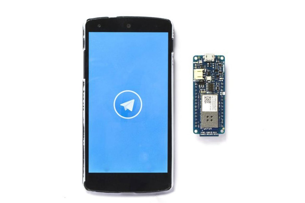 Host a @Telegram Bot on your Arduino MKR1000 and chat with your brand new IoT device:
