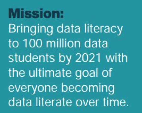 Join @oceansofdata and sign our Call to Action to Promote Global #DataLiteracy:  #BigData