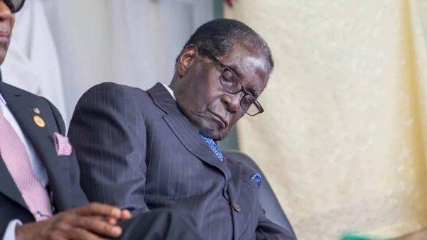 Robert Mugabe sleeping