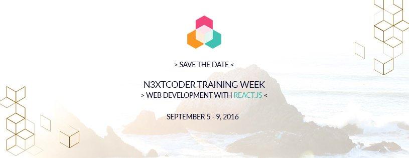 N3XTCODER Training Week React.JS Sept 5-9 in Berlin  #reactjs #JavaScript #webdev