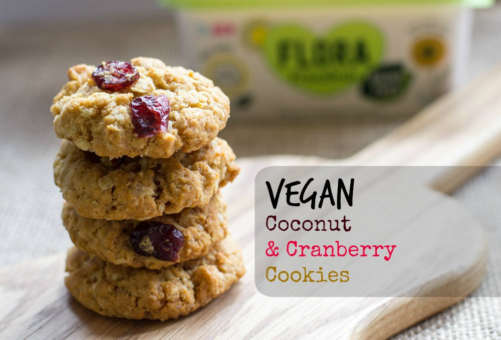 Fab Oaty Cranberry & Coconut Cookies via @planetveggie