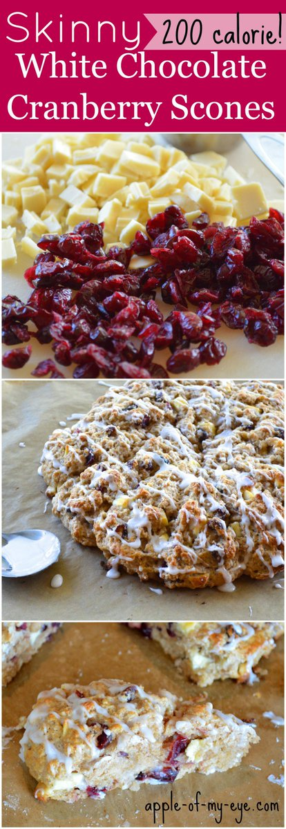 Skinny White Chocolate Cranberry Scones with less ... - :/�