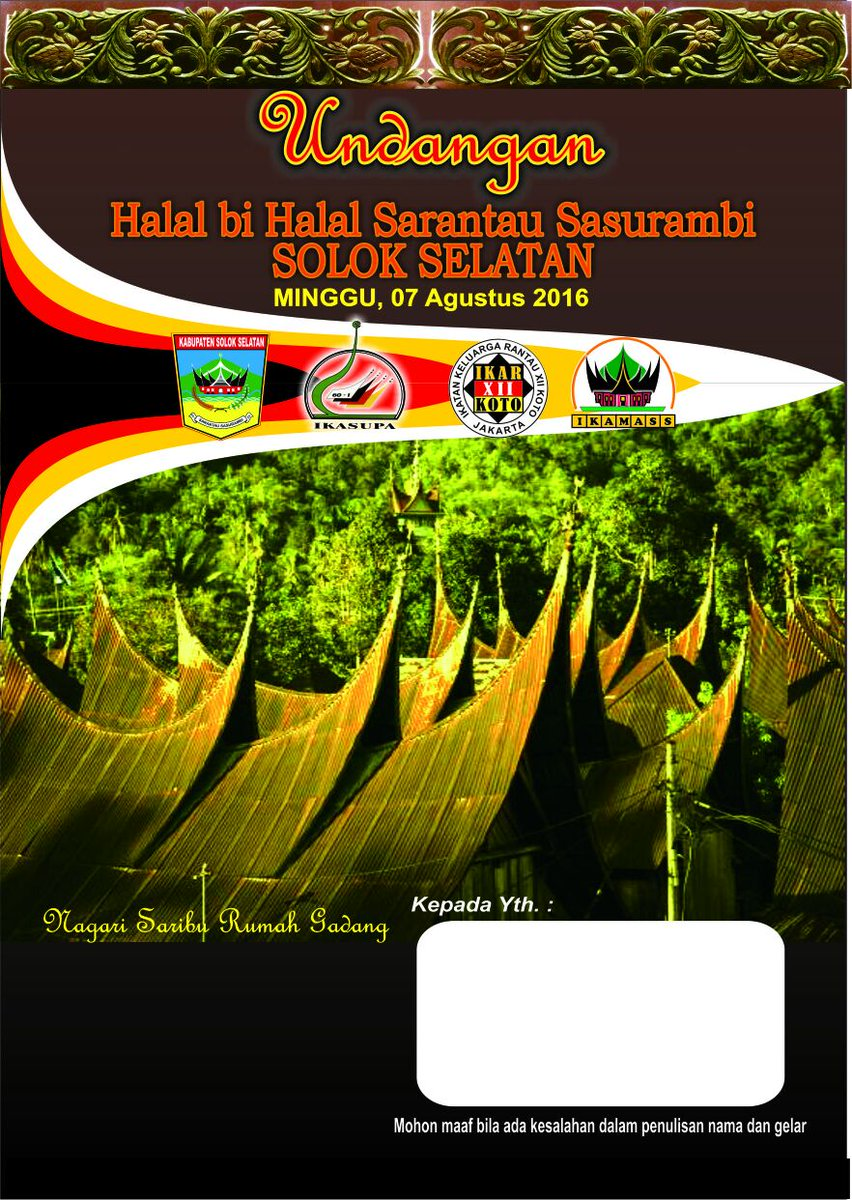 Kaba Solok Selatan On Twitter H 5 Maingek Undangan Halal Bi Halal