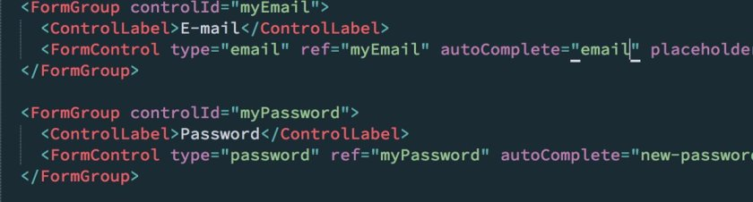 Turn off autocomplete in Chrome with #ReactJS: