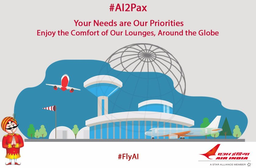 #AI2Pax:With an array of facilities,enjoy #AI's Lounge services,around the globe:  #FlyAI