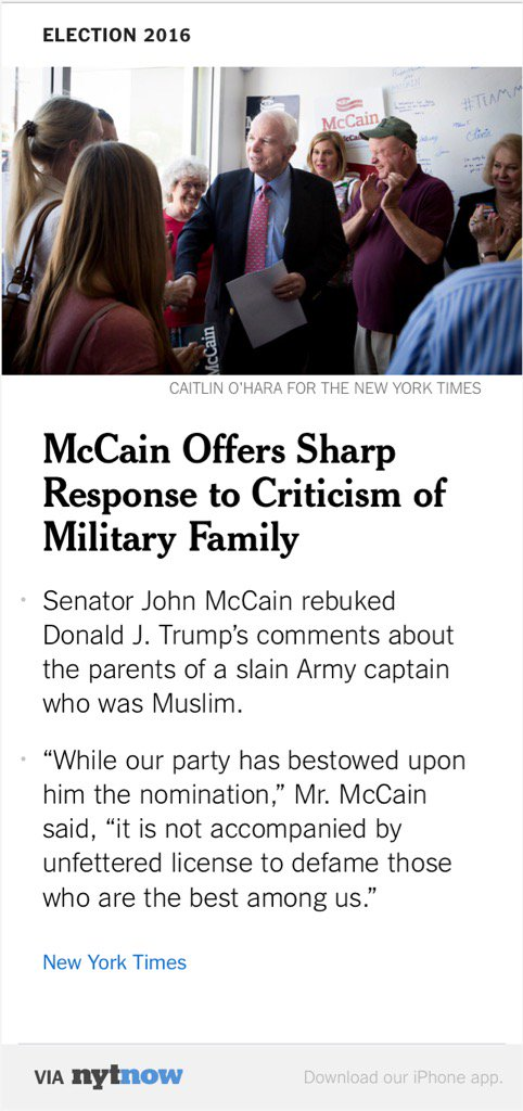 Image result for john mccain criticisms of donald trump