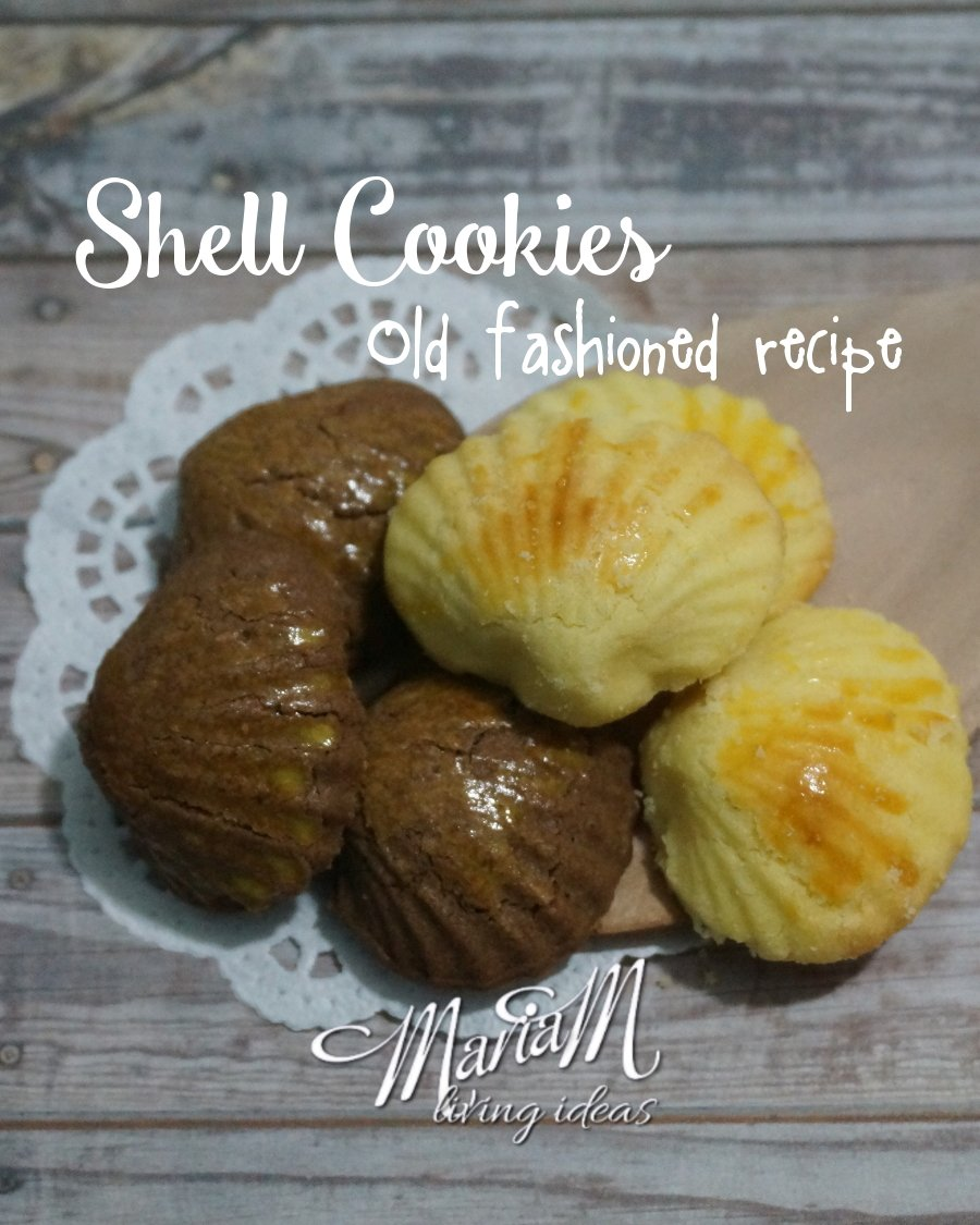 Delicious shell shaped cookies, recipe from my grandmother :�