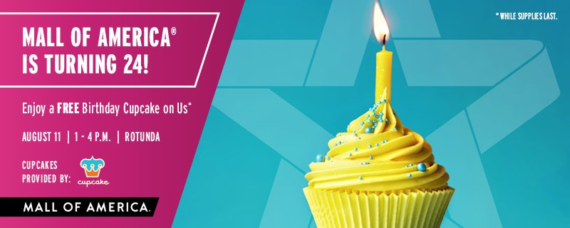 Mall Of America On Twitter Tomorrow S The Big Day Join Us For Our 24th Birthday Celebration Enjoy A Free Treat Https T Co R7ehidlqlx