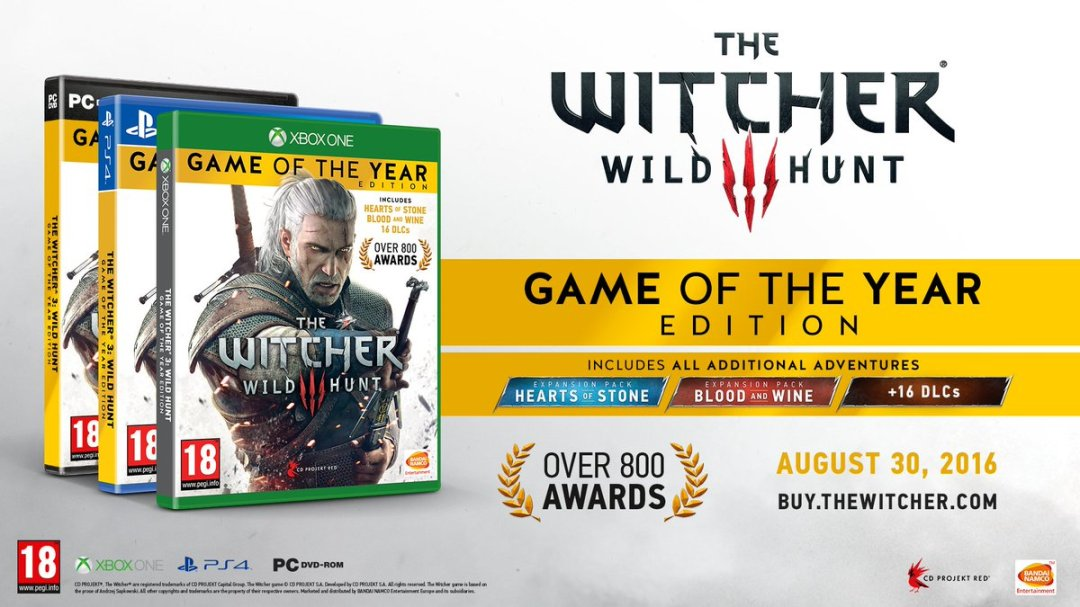 The Witcher 3: Wild Hunt - 'Game of the Year' Announcement Trailer 1