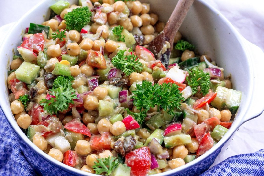 Creamy Chickpea Avocado Salad makes the perfect, colorful Summer salad!