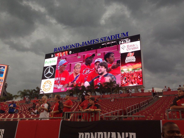 #Bucs host 1st preseason home game, show off stadium improvements #Tampa  @Laurie_Davison