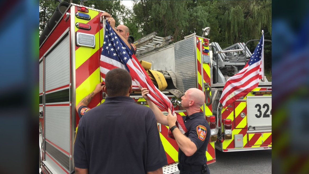 'Compromise' sought after town orders U.S. flags removed from fire trucks