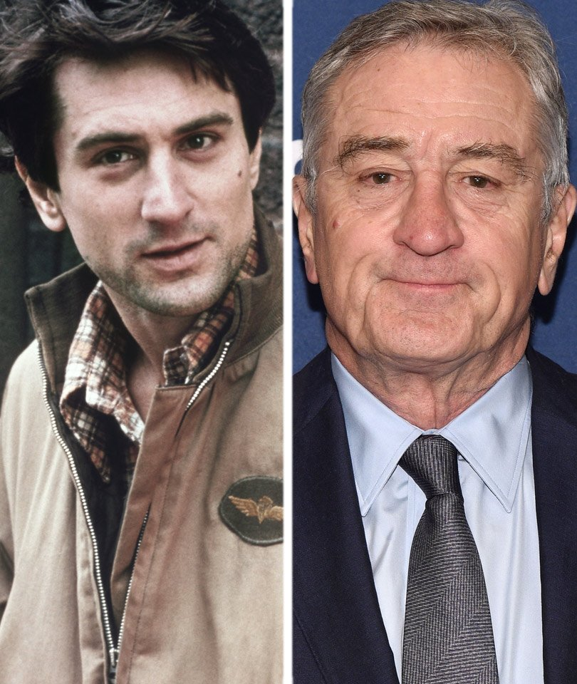 Image result for robert de niro then and now