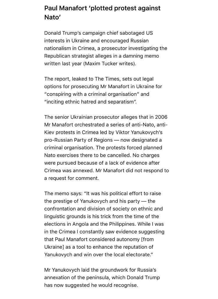 If true, these allegations are pretty damning for Manafort: