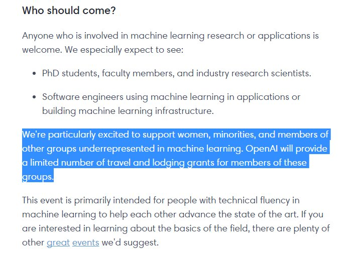Like AI? Come to the @OpenAI machine learning unconference  < grants available!