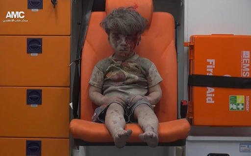 Image of boy sparks interest in #Syrian war  @tammiefields explains the power of this image: