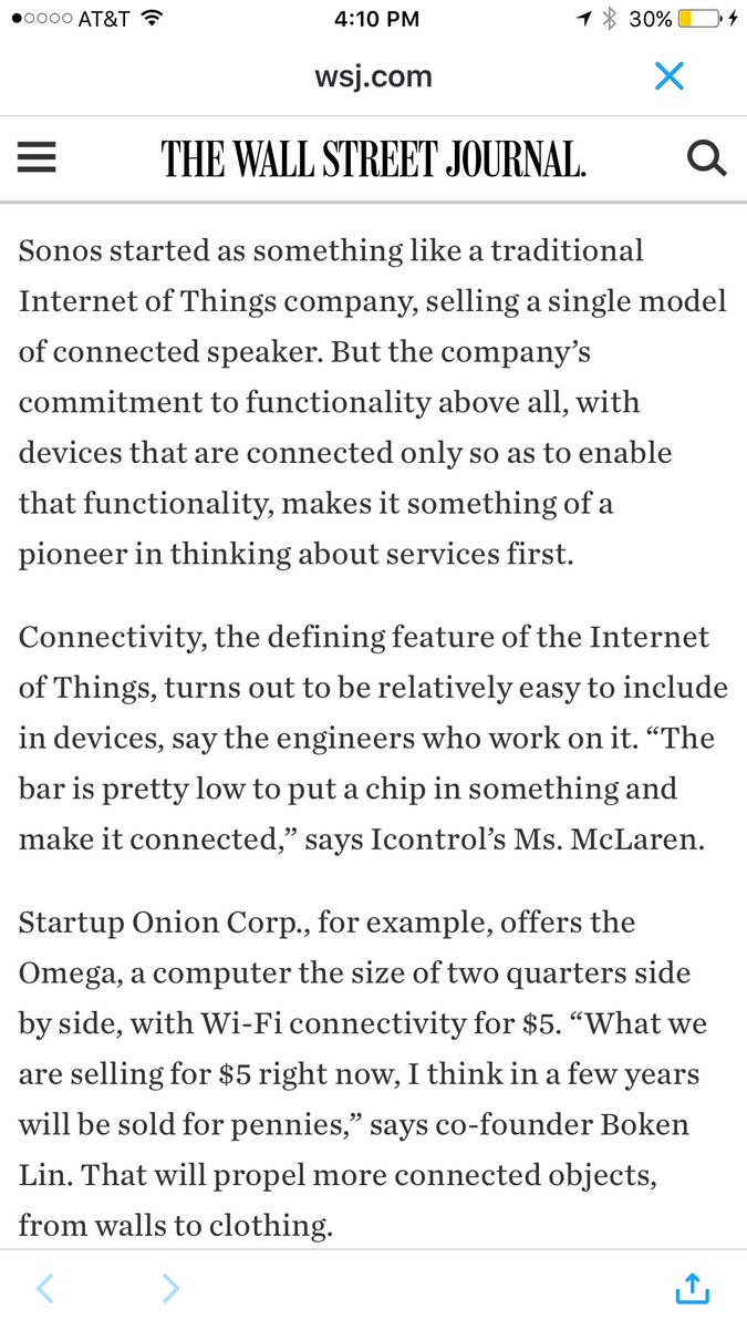 The Internet of Things Is Here and It Isn't a Thing  #IoT