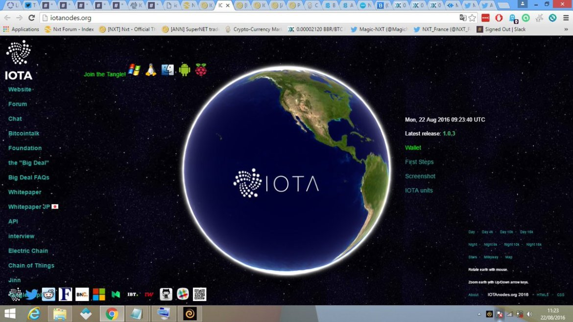 #IOTA nodes website released  Join the Tangle  #IoT #M2M #blockchain