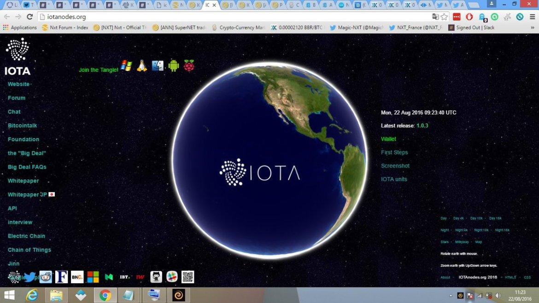 #IOTA nodes website released  Join the Tangle  #IoT #M2M #blockchain