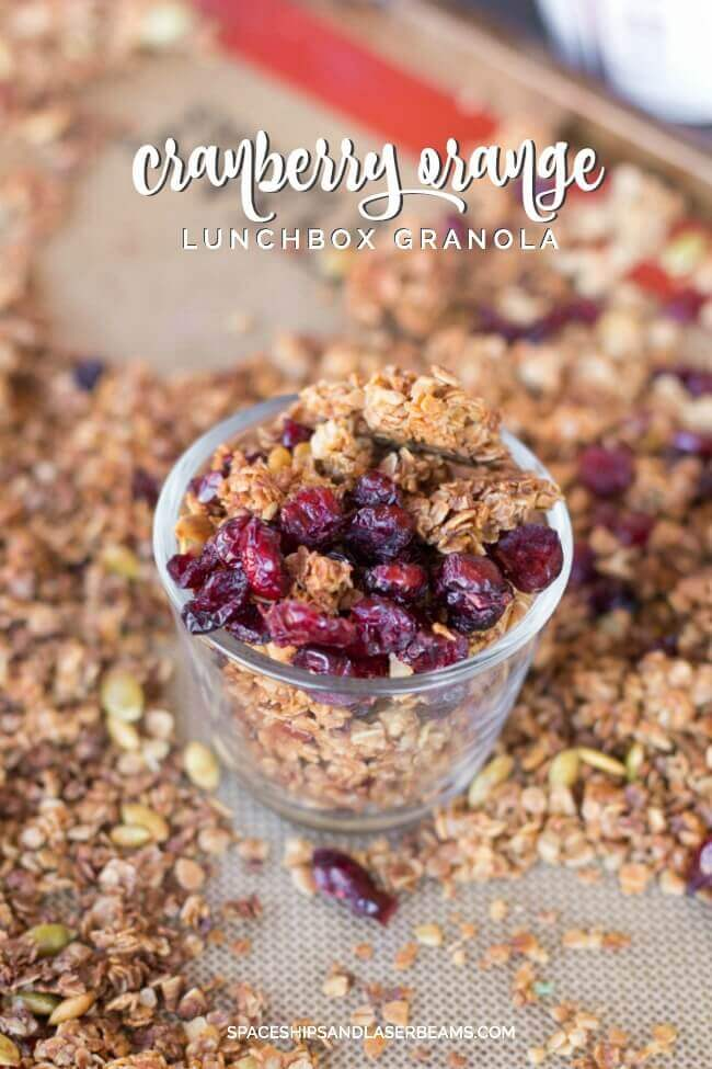 Orange Cranberry Granola ---->