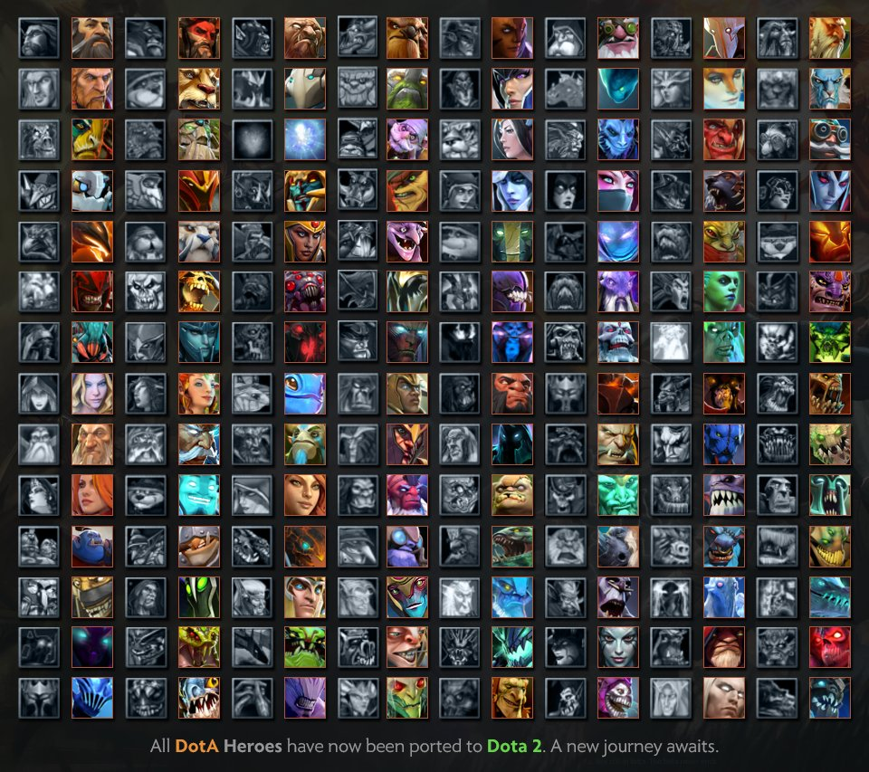 Wykrhm Reddy On Twitter All DotA Heroes Have Now Been Ported To Dota 2 A New Journey Awaits